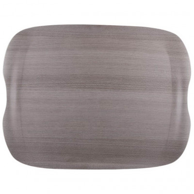 Roltex Earth Tray Wave Grey Wood 43x33cm