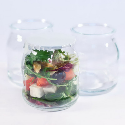 Jumbo yogurt glass pot