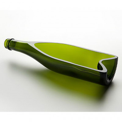 Deep Champagne Plate Green