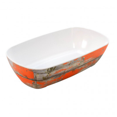 Dalebrook Rustic Orange Tura 1/3 Size Crock 176x325x80mm 2L
