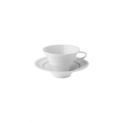 Hering Berlin Soda coffee/tea cup with saucer, conical ø110 h80 170ml,ø165 h40