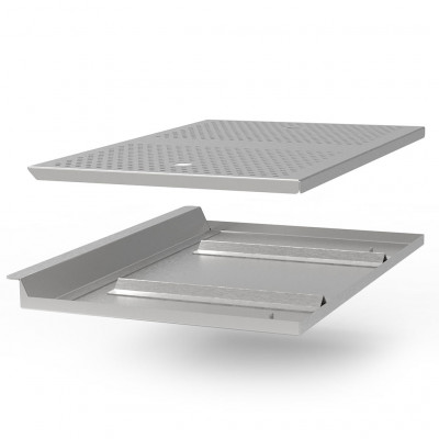 X-OVEN Grease drainer tray + plate