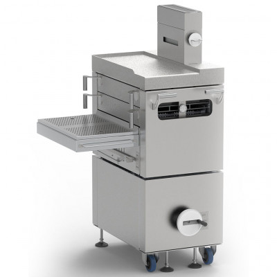 X-OVEN BURGER MACHINE charcoal oven left
