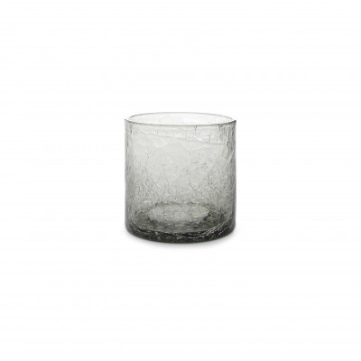 F2D Crackle Whisky glass 0.22l grey